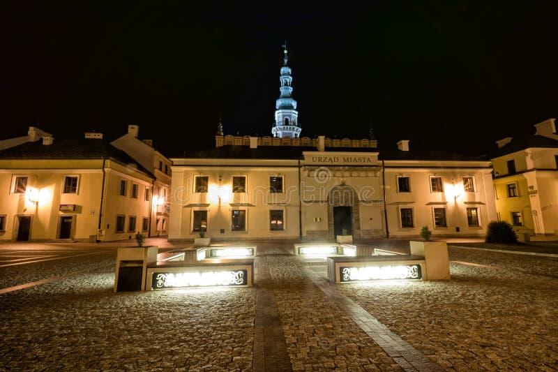 Zamosc - ville de la Renaissance en Europe centrale photographie stock