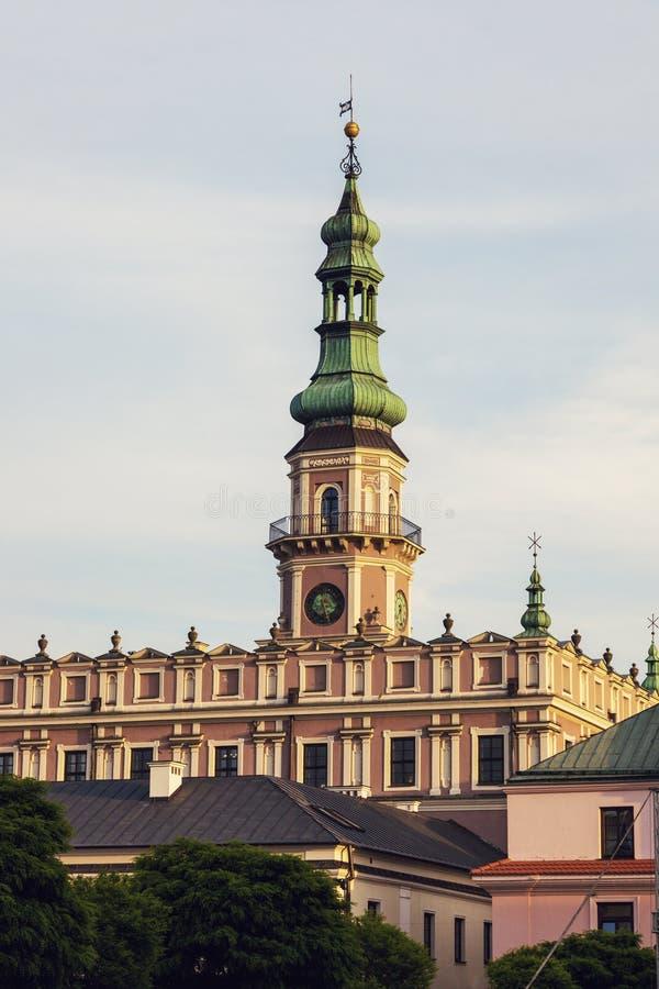 ZamoscStadhuis op Groot Marktvierkant royalty-vrije stock afbeelding