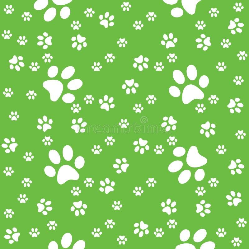Zampe verdi modello, illustrazione del fondo della zampa illustrazione di stock