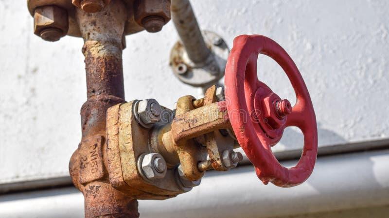 Zamykać klapy na naciska well bieżącym wyposażeniu olej obraz royalty free