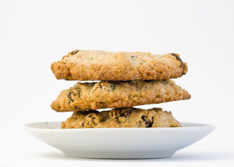 zamyka ciastek oatmeal fotografię pl w górę biel zdjęcie stock