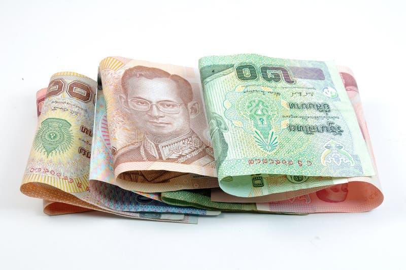 Zamyka pieniądze tajlandzki pieniądze zdjęcie stock
