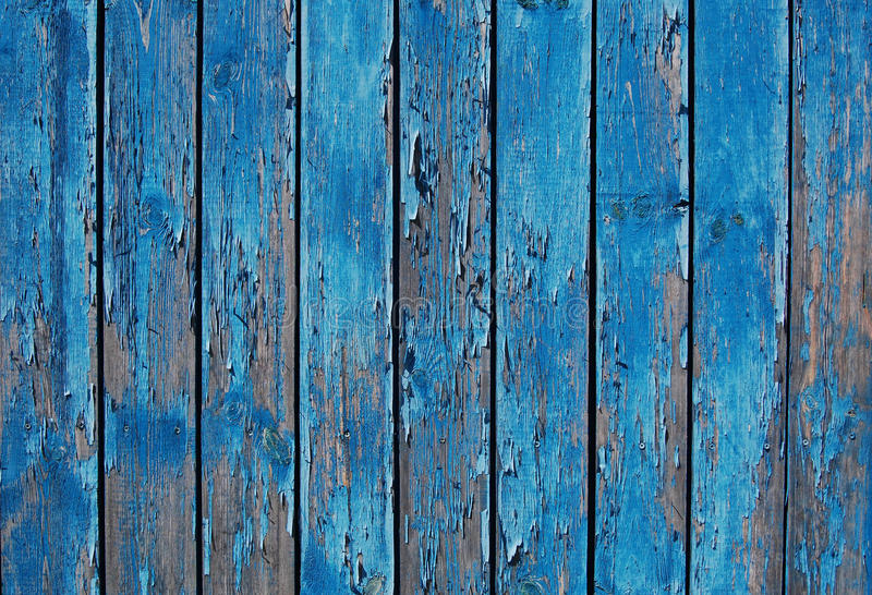 Zamyka up błękitni drewniani płotowi panel zdjęcie royalty free