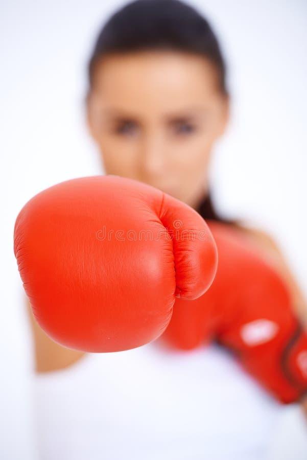 Zamyka up bokserska rękawiczka zdjęcie royalty free