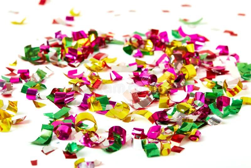 Zamyka up confetti na białym tle obraz royalty free