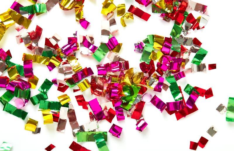 Zamyka up confetti na białym tle royalty ilustracja