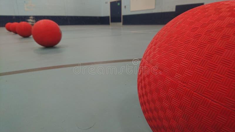 Zamyka up dodgeballs wykładający up zdjęcie stock