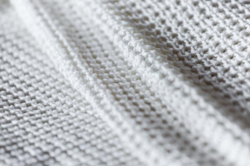 Zamyka up fałdowy biały knitwear fotografia stock