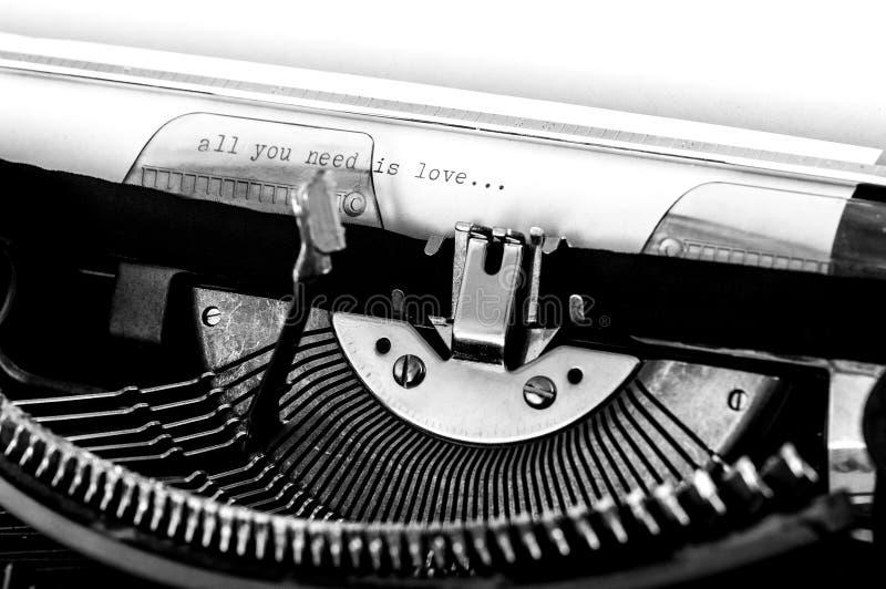 Zamyka up maszyna do pisania zdjęcie royalty free