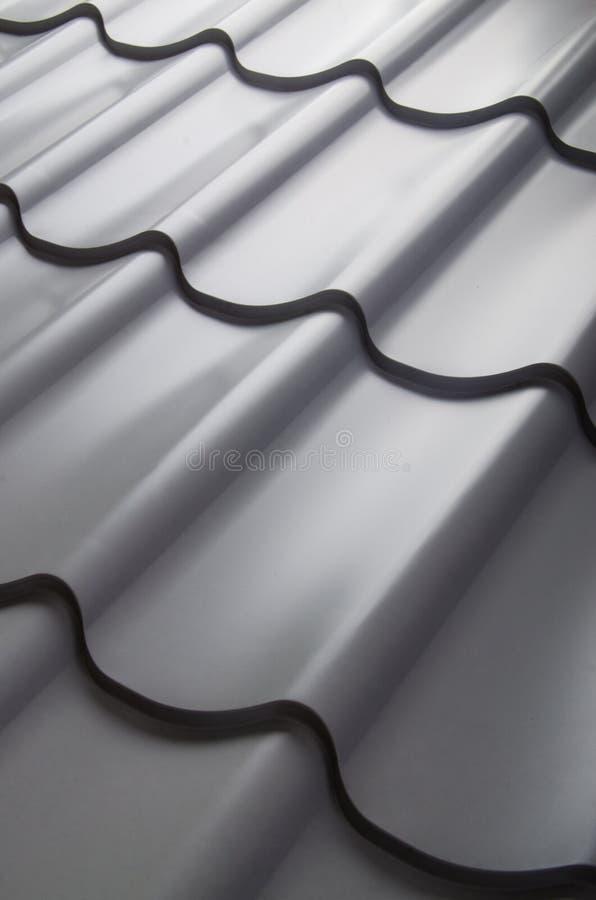 Zamyka up metal dachowa płytka fotografia stock