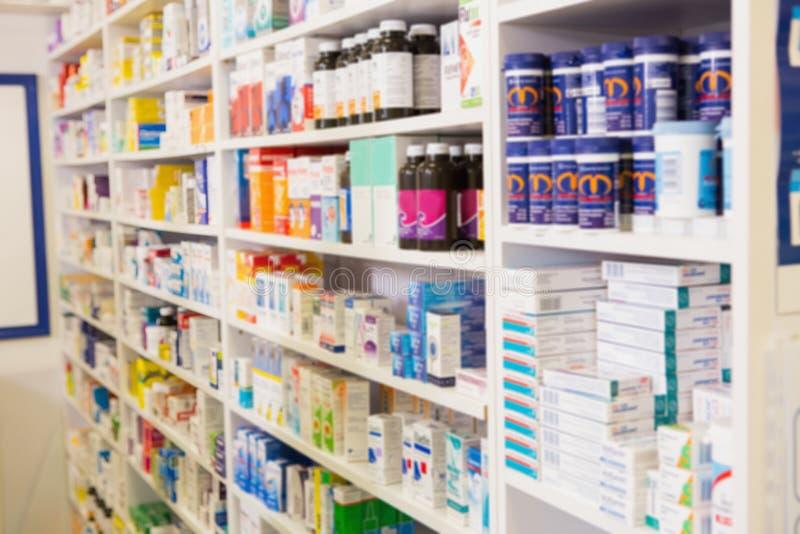 Zamyka up półki leki zdjęcie stock