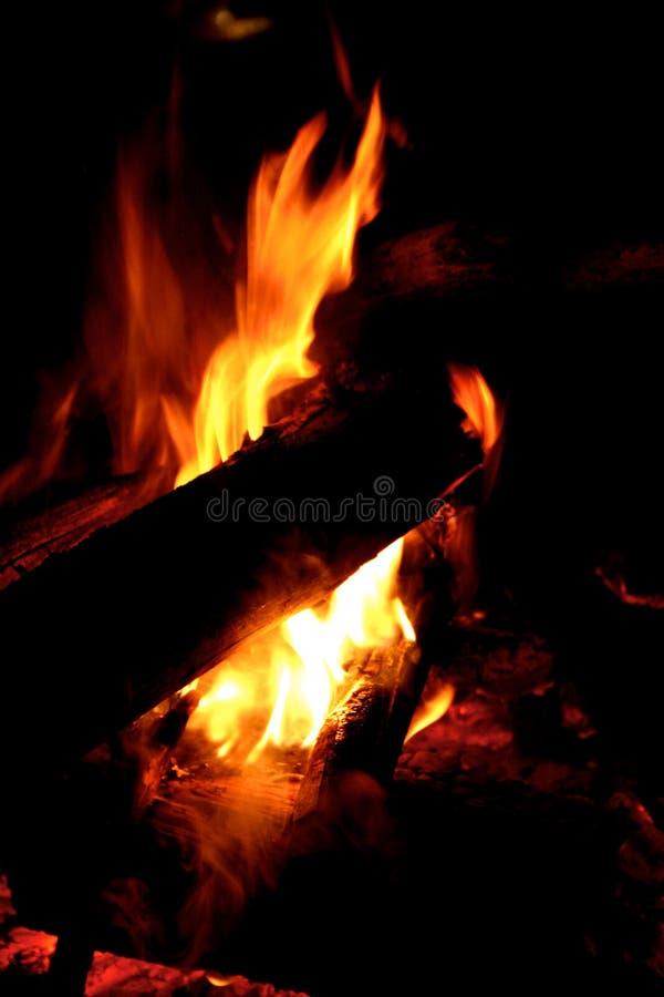 Zamyka up pożarniczy płomienie obraz stock