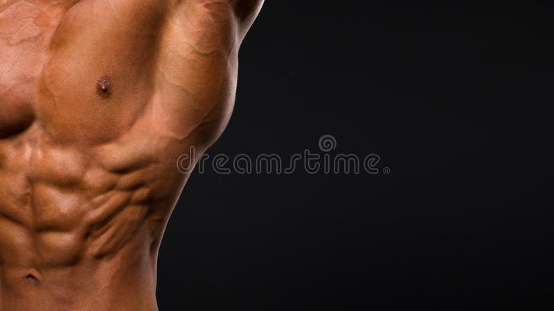 Zamyka up pot mięśniowa męska półpostać obraz stock