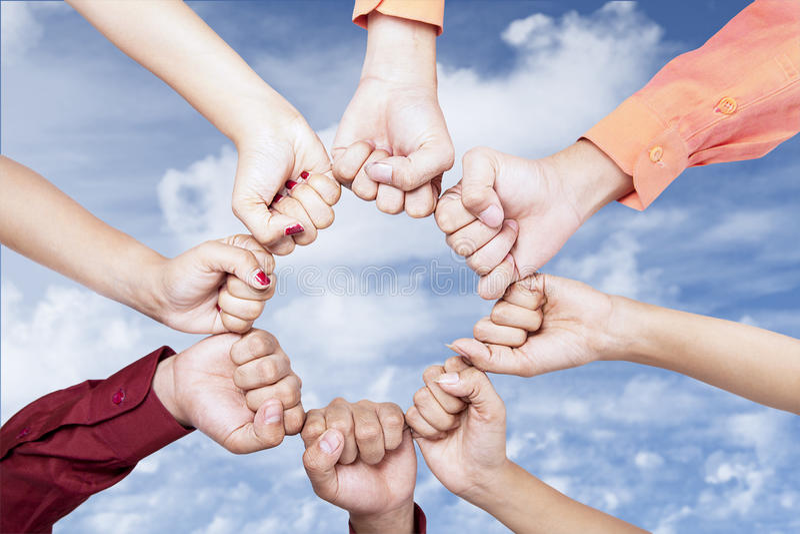 Ręki plenerowe jedność zdjęcia stock