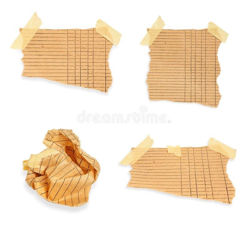 Download Zamyka Up Rocznika Nutowy Papier Zdjęcie Stock - Obraz złożonej z etykietka, officemates: 28971010