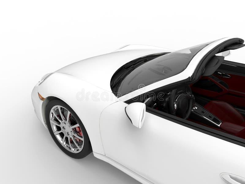 Zamyka up rodzajowy biały sportowy samochód ilustracji