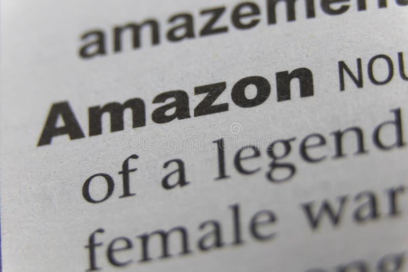 Zamyka up słowo Amazon zdjęcie stock