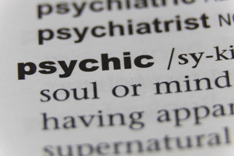 Zamyka up słowo psychiczny obrazy royalty free
