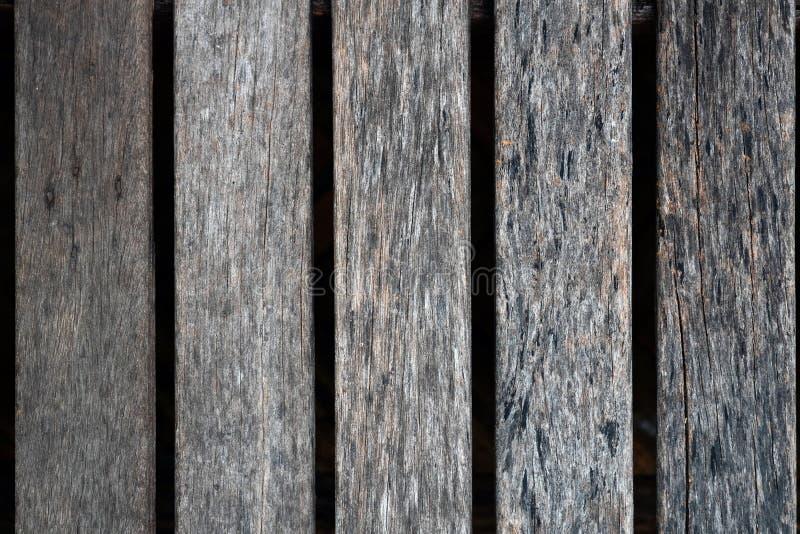 Zamyka up stary brown drewniany lath z naturalnym pasiastym tłem fotografia stock