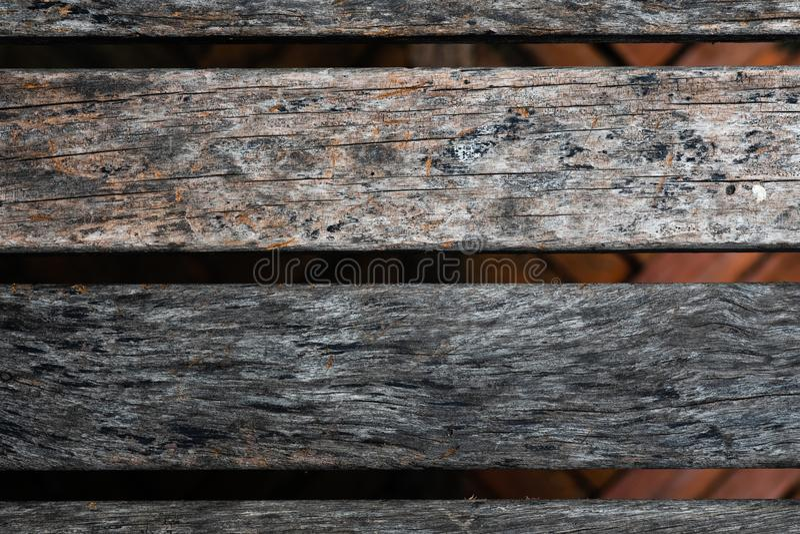 Zamyka up stary brown drewniany lath z naturalnym pasiastym tłem obrazy stock