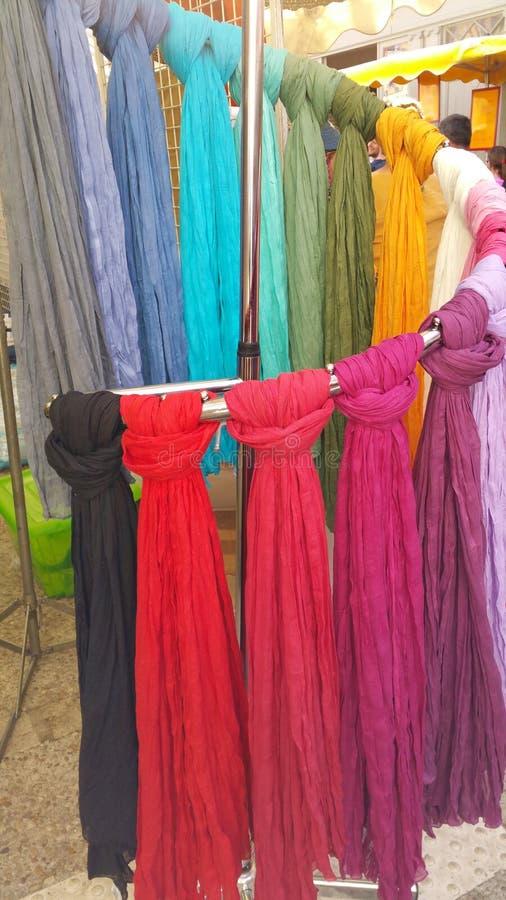 Zamyka up supłający scarves obrazy stock