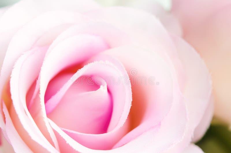 Zamyka up sztuczna pastel róża zdjęcia royalty free