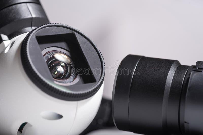 Zamyka up truteń kamery obiektywy obraz stock