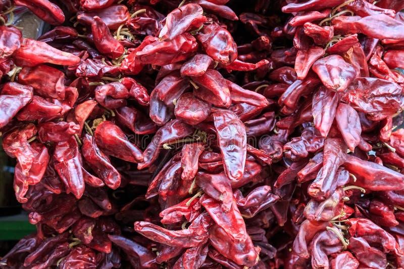Zamyka up wysuszony chili obrazy royalty free