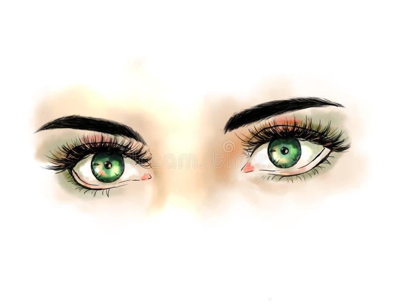 Zamyka up z pięknymi oczami z długimi rzęsami zdjęcie stock
