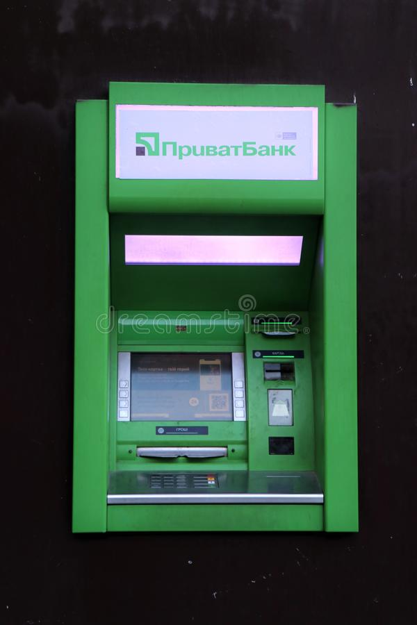 Zamyka w górę banka atm, transakcje finansowe zdjęcie royalty free