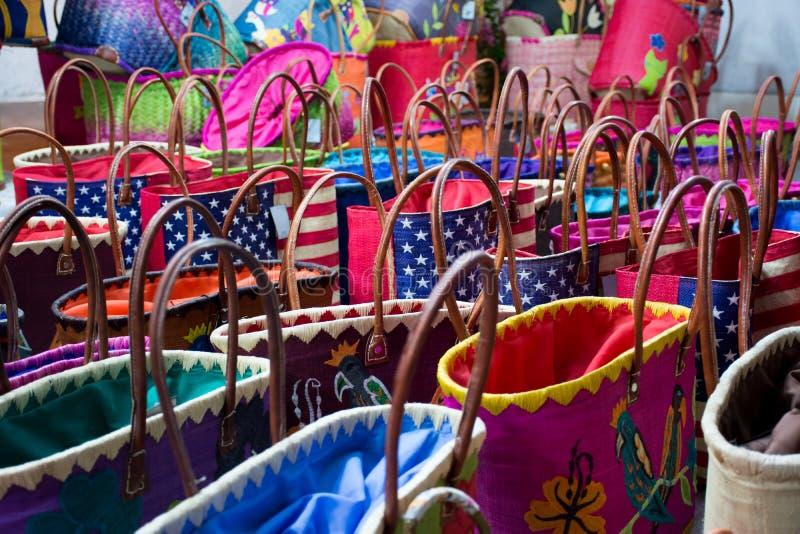 Zamyka W górę Barwionych Bawełnianych toreb obrazy royalty free