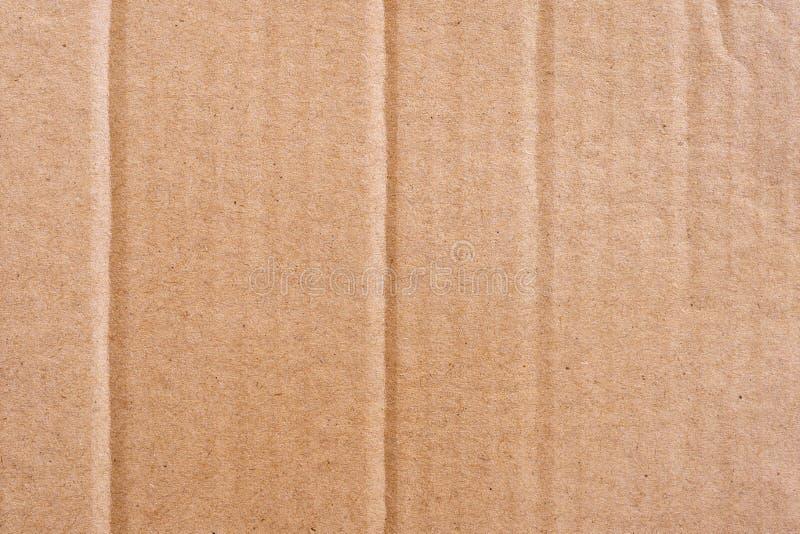 Zamyka w górę brown kartonowej papierowego pudełka tekstury i tła zdjęcie royalty free