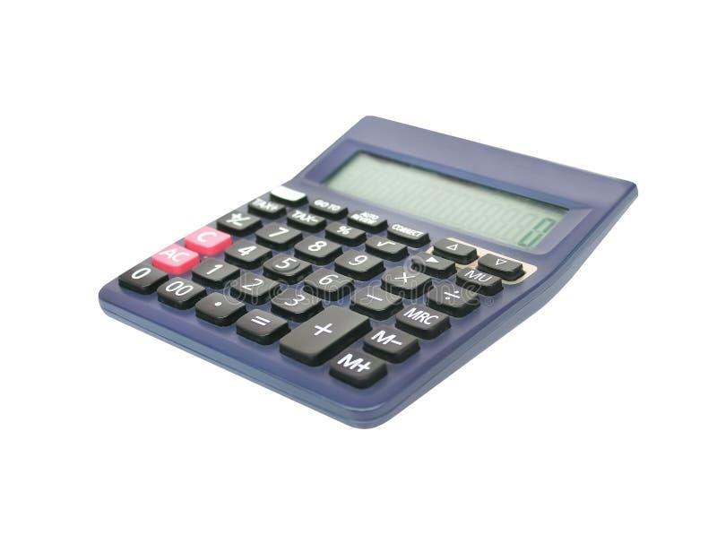 Zamyka w górę czarnego kalkulatora odizolowywającego na białym tle z ścinek ścieżką obrazy stock
