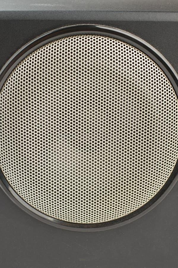 Zamyka w górę czarnego stereo pudełka z round mówcą fotografia royalty free
