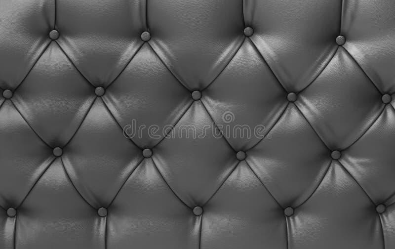 Zamyka w górę czarnej rocznik kanapy skóry tekstury zdjęcie royalty free