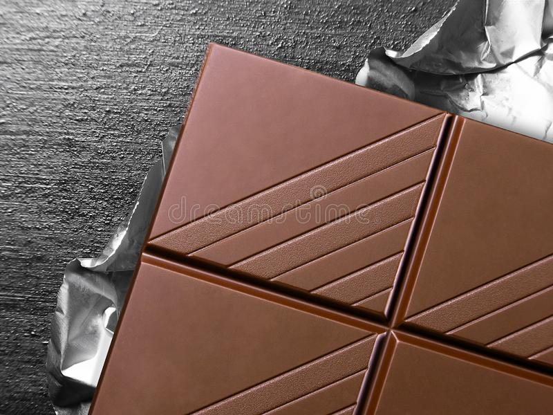 Zamyka w g?r? czekoladowego baru obrazy royalty free