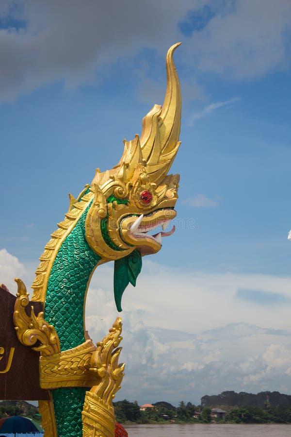 Zamyka w górę głowy statuę królewiątko Naga zdjęcia royalty free