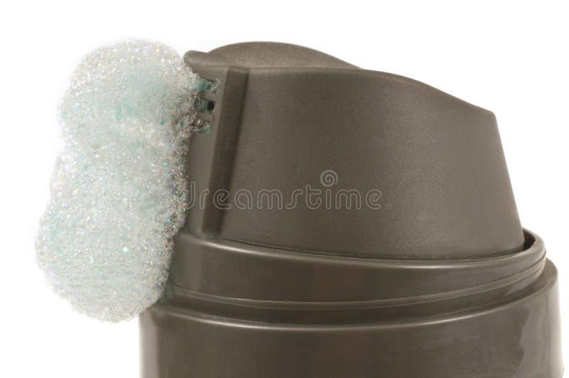 Zamyka w górę golenia gel kiści dalej zdjęcia royalty free