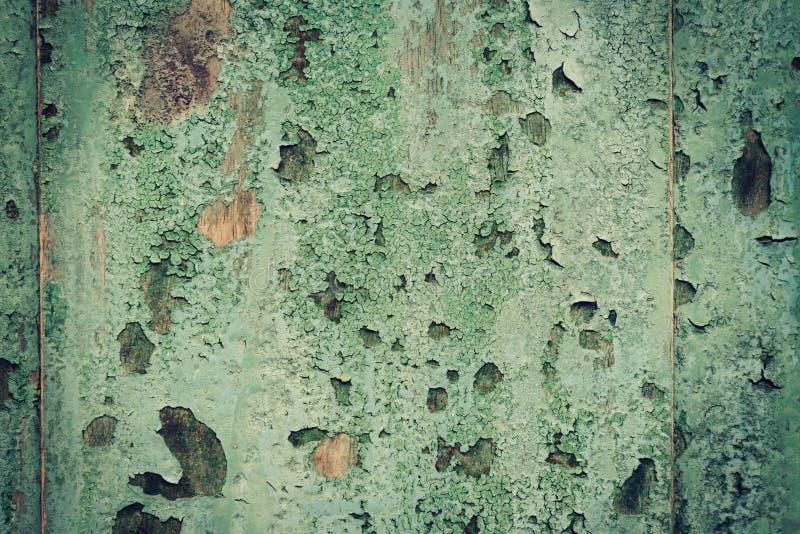 Zamyka w górę grunge zieleni drewnianego tła i tekstury fotografia royalty free
