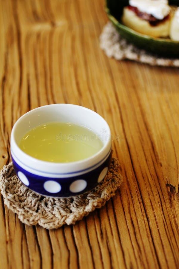 Zamyka w górę japońskiej herbaty zdjęcie royalty free