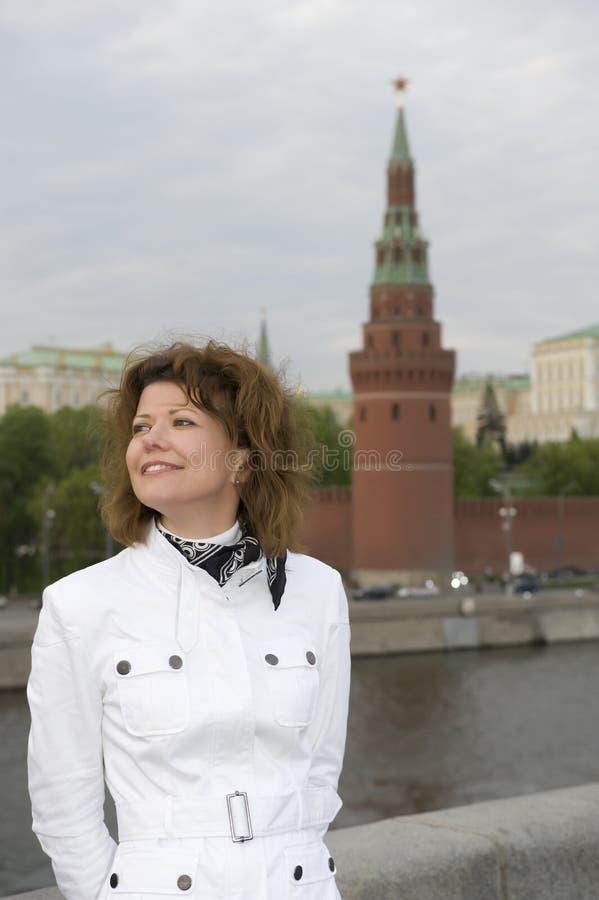 zamyka w górę kobiety Kremlin rosjanina obrazy stock