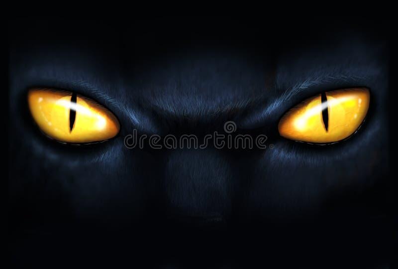 Zamyka w górę kotów oczu ilustracja wektor