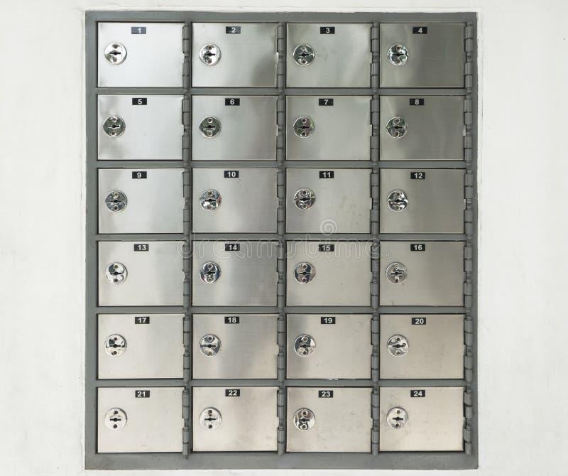 Zamyka w górę linii nierdzewna szafka obrazy royalty free
