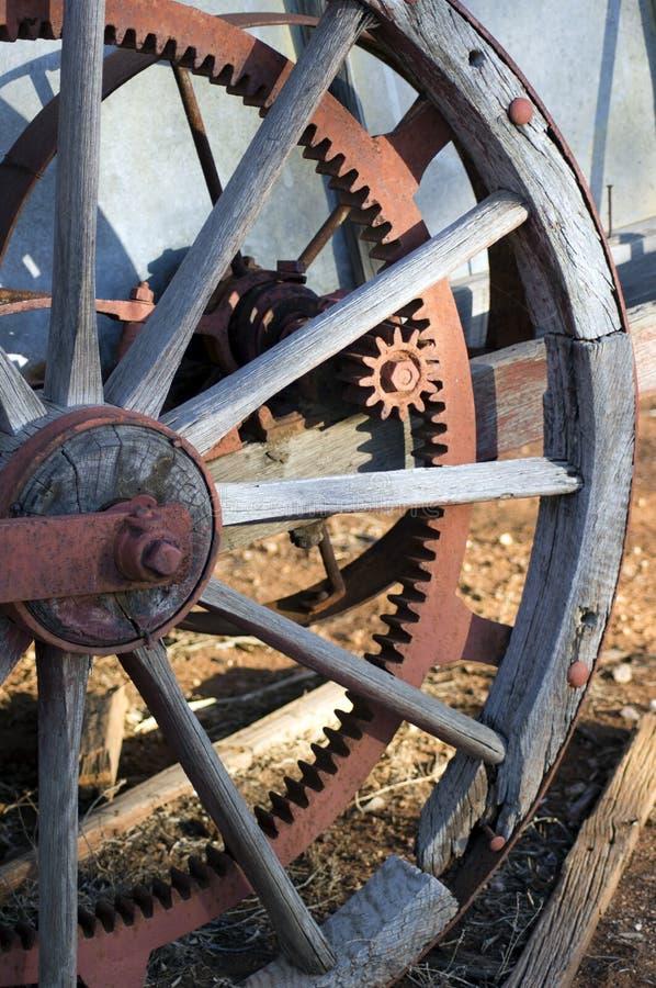 Zamyka w górę lub abstrakt rocznik rolnicza maszyneria obrazy royalty free