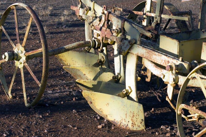 Zamyka w górę lub abstrakt rocznik rolnicza maszyneria zdjęcia stock