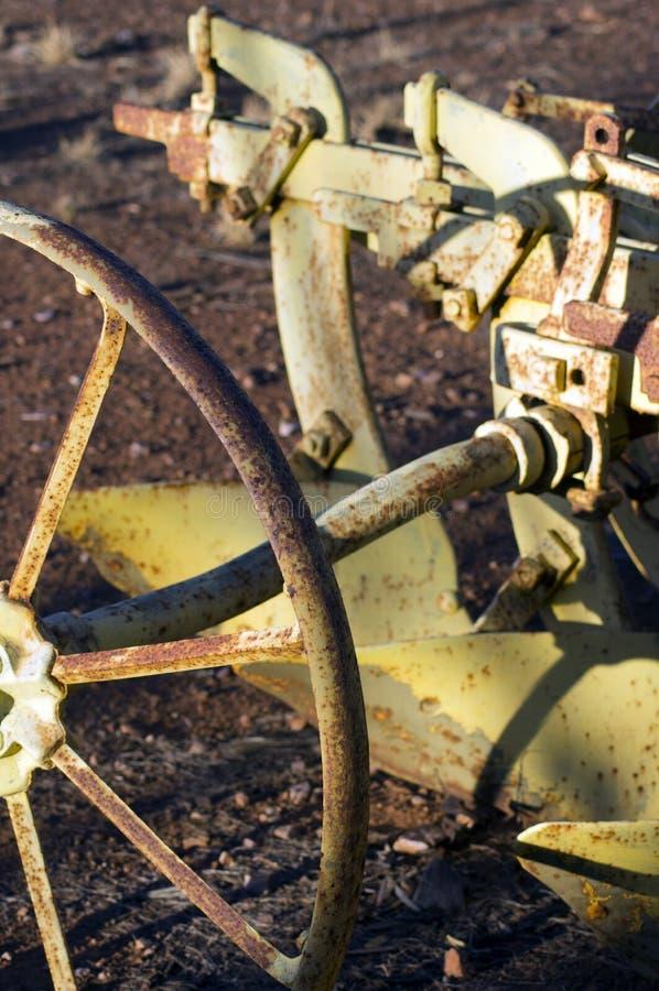 Zamyka w górę lub abstrakt rocznik rolnicza maszyneria zdjęcia royalty free