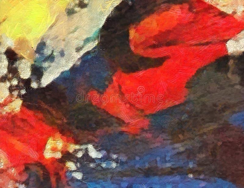 Zamyka w górę nafcianej farby abstrakta tła Sztuka textured brushstroke ilustracja wektor