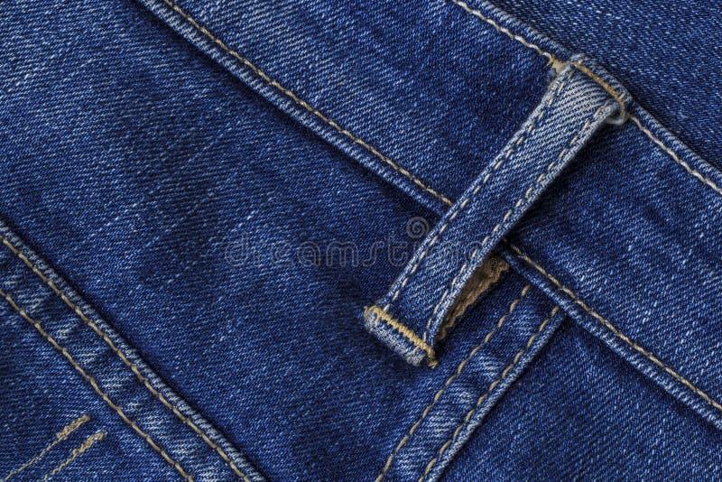 Zamyka w górę niebieskich dżinsów fotografia stock