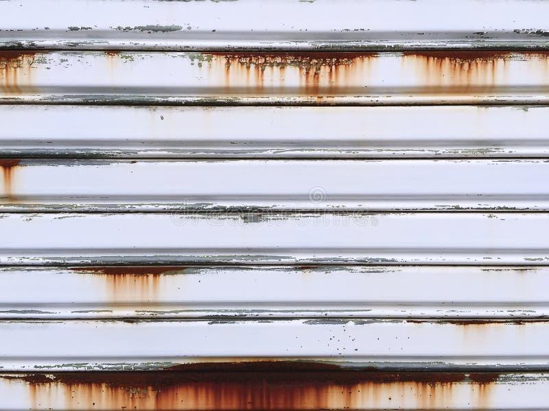 Zamyka w górę Ośniedziałej Panwiowej Stalowej Drzwiowej tekstury zdjęcia stock