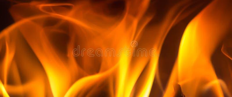 Zamyka w górę płomienia węgla drzewnego tła fotografia stock